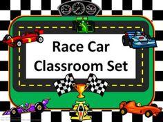 Classroom Set- RACE CAR THEME - gingerose - TeachersPayTeachers.com