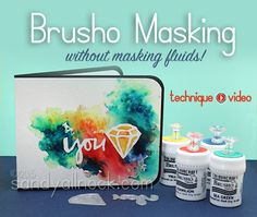 Sandy Allnock Brusho Masking - great video by Sandy using Brusho