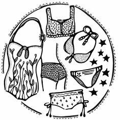 Ik schud me los van het winterse weer. Daar verschijnt tekening 18/31 op mijn papier, subject van vandaag: Draw a Bikini. #blackandwhite #creativebug #CBDrawADay #tekenen #draw #drawing #tekening #bikini #bikinis #bikinilovers #badpak #drawchallenge #lisacongdon #pattern #creativelifehappylife #creativelife #createeveryday