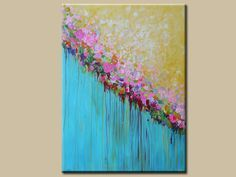 pintura abstracta acrílica pintura contemporánea gran por artbyoak1