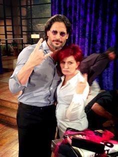@TheTalk_CBS    .@MrsSOsbourne & @joemanganiello's post showdown shot! Thanks 4 rockin' #TheTalk 2dy Joe & Mrs. O!