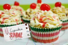 Cupcakes sundae sin gluten