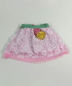 Pink & Green Flower Skirt - Infant & Girls #zulily #zulilyfinds
