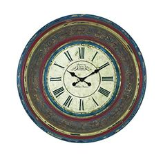 Benzara 89239 Wood Wall Clock with Large Roman Numerals * Continue to the product at the image link.