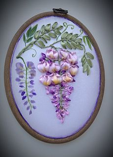 Wonderful Ribbon Embroidery Flowers by Hand Ideas. Enchanting Ribbon Embroidery Flowers by Hand Ideas. Ribon Embroidery, Cushion Embroidery, Hand Embroidery Patterns Flowers, Ribbon Embroidery Tutorial, Embroidery Works, Embroidered Flowers, Satin Ribbon Flowers, Ribbon Art, Ribbon Crafts