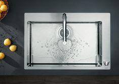 Modern kitchen sink and mixer #hansgrohe #kitchendesign