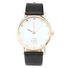 """JSDDE Uhren,Elegant Damen Armbanduhr Lederarmband Damenuhr """"ACCESSORIES TO LOVE Herz Analog Quarzuhr,Schwarz - http://kameras-kaufen.de/jsdde/jsdde-uhren-elegant-damen-armbanduhr-damenuhr-to"""