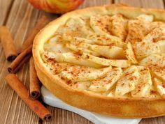 Ein leckerer Apfeltarte passt als Dessert und zum Nachmittagskaffee.