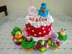bolo decorado galinha pintadinha