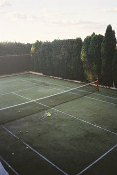 enclosed private tennis court - loves