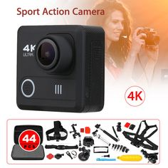 """M21 170degree 4K 1080P 12MP WiFi 2.0"""" LCD HD Helmet DVR Camcorder Waterproof Sport Action Camera + 44in1 Accessories Kit #Affiliate Camcorder, Lcd, Cameras, Action, Sports, Hockey Helmet, Accessories, Video Camera, Hs Sports"""