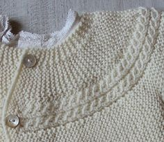 Ravelry: 29 / Princess Charlotte Baby Jacket pattern by Florence Merlin