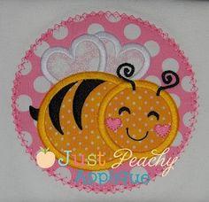 Bee 2 Applique Design