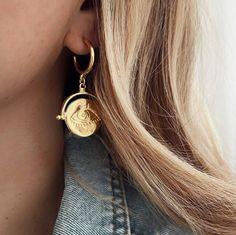 Lunar Eye Hoops sm Drop Earrings, Eyes, Jewelry, Jewlery, Jewerly, Schmuck, Drop Earring, Jewels, Jewelery