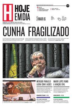 Capa do dia 03/03/2016 #HojeEmDia #Jornal #Notícias #News #Newspaper