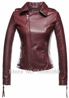 2014 Brand New Arrival Women's Genuine Sheepskin Leather Jacket Motorcycle Coat  Slim Tassel ladies Long Sleeve jakets