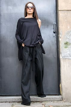 Asymmetrical Unique Dress ♥ Extremely Comfortable Asymmetrical Loose Top ♥ Extra Long Blouse,or tunic,or may be dress... Extravagant creation for those