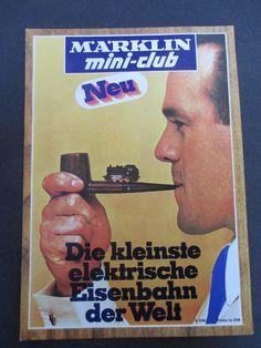 Märklin mini-club, die kleinste elektrische Eisenbahn der Welt, Spur Z Erster Katalog Poster Groesse, 1972