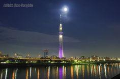 東京スカイツリー ライトアップ 「雅」  Tokyo Sky Tree Light-up Miyabi