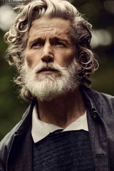 "jefscom: "" beardbrand: "" Uniforms for the Dedicated featuring Aiden Shaw, posted by beyondfabric "" I've said it before, but Aiden Shaw has aged beautifully. Yes, he looks much older than he. Hair Men Style, Hair And Beard Styles, Long Hair Styles, Aiden Shaw, Grey Beards, Look Man, Men With Grey Hair, Hommes Sexy, Beard No Mustache"