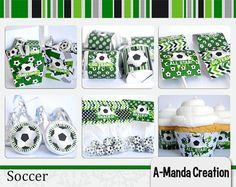 Soccer Printable Party Bundle by AmandaCreation on Etsy