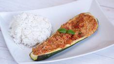 A csicseriborsó tölteléknek is remek választás. Zucchini, Curry, Vegetables, Food, Curries, Essen, Vegetable Recipes, Meals, Yemek