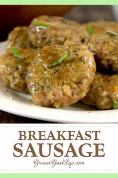 Homemade Breakfast Sausage - Recipes : Homemade sausage , bacon , etc. - Homemade Breakfast Sausage – Recipes : Homemade sausage , bacon , etc. Ground Pork Sausage Recipes, Homemade Sausage Recipes, Pork Recipes, Cooking Recipes, Homemade Recipe, Pork Sausage Seasoning Recipe, Recipes With Sage Sausage, Dishes Recipes, Breakfast And Brunch