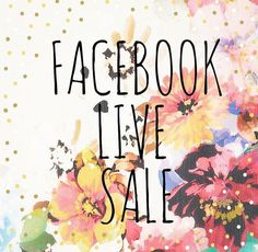 FB Live Sale #RePin by AT Social Media Marketing - Pinterest Marketing Specialists ATSocialMedia.co.uk