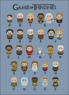 Game of Thrones alphabet sampler pattern by CloudsFactory