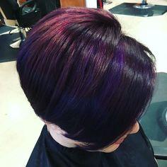 #purplehair #undercut #pravana