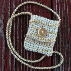 """One of a Kind, Handmade Spirit Pouch called """"Autumn Frost"""""""
