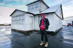 Ryan Mendoza with The White Houseat Art Rotterdam.Photo: Geert Broertjes, courtesy Art Rotterdam.