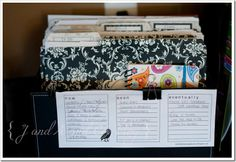 I love this organization station and those file folders! #organization #files