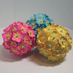 Punched flower pomander decor balls. For the new house!!!