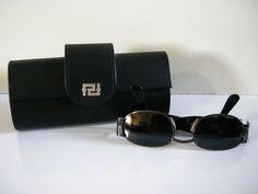 c49561a6f226e Vintage GIANNI VERSACE Sunglasses MOD. X26 G COL.89M  Versace Leather Case