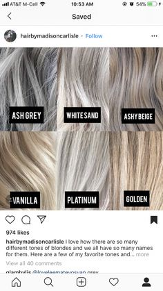 Amazing transformation from orange brassy hair color to icy silver hair. Grey Hair Transformation, Silver Blonde Hair, Toner For Blonde Hair, Hair Toner, White Blonde, Bleach Blonde, Platinum Blonde, Gray Hair Highlights, Gray Hair Growing Out