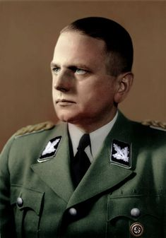 SS-Gruppenführer Otto Ohlendorf commanded the Inland SD (domestic security service) and was in command of Einsatzgruppe D, a killing group in Russia. He was hanged in 1951 as a Holocaust perpetrator.