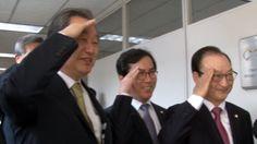 """[단독] 김무성, '친일' 백선엽에 거수경례... """"장군님은 한미동맹 상징"""""""