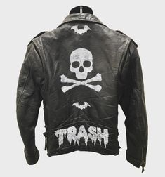 Trash Rocker jacket from ChadCherryClothing. Distressed leather jacket by Chad Cherry.