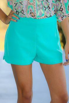Keep A Secret Shorts-Aqua
