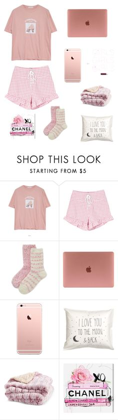 """""""pink nightwear"""" by kyrabelle03-1 ❤ liked on Polyvore featuring Goroke, Elle and Oliver Gal Artist Co."""