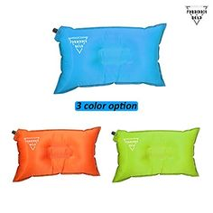 camping pillows forbidden road camping pillow air inflatable travel pillow self inflate 20 x 12