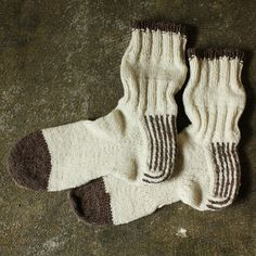 Striped-heel socks KIT