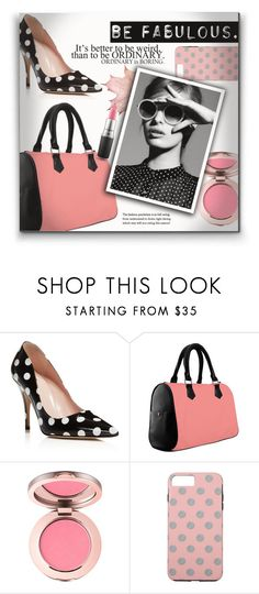 """""""Be Fabulous With Polka Dots"""" by colormegirly ❤ liked on Polyvore featuring Kate Spade, MAC Cosmetics, accessories, handbags and polyvorefashion"""
