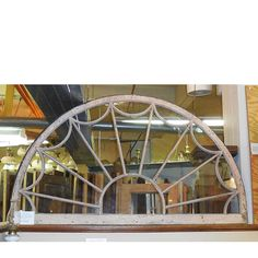 Materials Unlimited - G14056 - Antique Colonial Revival Semicircular Fanlight In Frame, $975.00 (http://www.materialsunlimited.com/g14056-antique-colonial-revival-semicircular-fanlight-in-frame/)