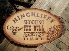 Rustic Country Sign, Shooting the Bull Permitted Here, Custom Family Name Sign, Plaque, Perfect Gift for Him