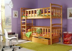 KACPER 2B with safety rail BUNK BED Free P&P with spring mattresses and drawers in Home, Furniture & DIY, Children's Home & Furniture, Furniture | eBay £369