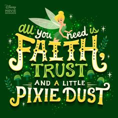 Faith Trust and a little bit of Pixie Dust I used to dream I could fly when I was little. I even had a little jar of pixie dust from my first trip to WDW that I treasured and used so sparingly. I still have it now 30 years later Walt Disney, Disney Cast, Cute Disney, Disney Memes, Disney Quotes, Disney Posters, Pixar Quotes, Disney Movie Rewards, Disney Fairies