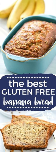 Easy gluten free banana bread, a staple breakfast recipe you'll make again and again.