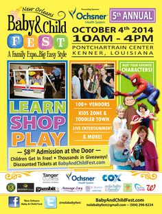 2014 Baby and Child Fest Kids Zone, Baby Center, Kids Health, Simple Style, Events, Entertaining, Learning, Children, Children Health
